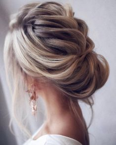 Loose & Romantic Wedding Hair from Tonystylist ~ such a pretty loose updo style. wedding hair inspiration - hair up - up do - Celebrate the Occasions Cedar City Utah Wedding Hairstyles For Long Hair, Wedding Hair And Makeup, Up Hairstyles, Hair Wedding, Hairstyle Wedding, Wedding Bride, Hairstyle Ideas, Hair Makeup, Medium Wedding Hair
