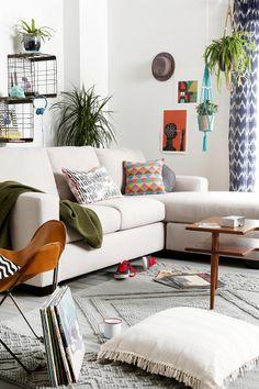 Maxwell Sectional Sofa #urbanoutfitters #smallspace #pinaroomwinaroom