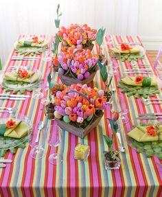 Hola chicas!!! Para lograr un centro de mesa hermoso no se tiene que gastar mucho, esta de moda la decoracion ecológica