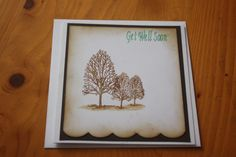 Stamped get well soon card.
