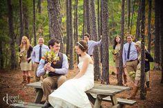 Fun wedding party photography