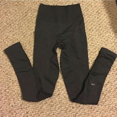 """Zone in lululemon athletica Brand New zone in lulus, they are charcoal gray so they go with just about every outfit and they are not even worn just tried on. I adore these but they are a bit too snug being the fact they are compression. they would probably even fit a size 2. these are a size 4 and still would fit a size 4. I'm looking for a size 6. they are tight in all the right places though, and they seem to prop your booty up. They do wunders!! I know these were under the """"we made too…"""