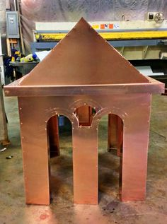 'Winchester Cathedral' chimney crown in copper from Chimney King.