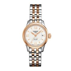 Look stunning with this Ladies Two Tone Rose Gold watch from the Le Locle Automatic collection in our TISSOT range @ Rocks.ie  #rocksjewellery #graftonstreet #stillorgan #Dublinjewellers #irishjewellers #watch #tissot #giftidea #forher