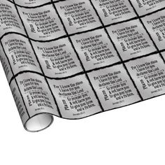 Bible Verse: For I know the Plans I have for you Gift Wrapping Paper Unique Wrapping Paper, I Know The Plans, Bible Verses, Create Your Own, Wraps, Faith, How To Plan, Personalized Items, Gifts