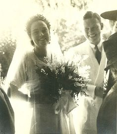 """Happier Days - my grandmother Edith Thacher and grandfather Francis S """"Duke"""" Dane on their wedding day."""