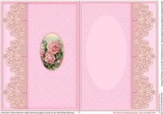 Vintage Pink Roses Lace Border A5 Matching Insert  on Craftsuprint designed by Sandie Burchell - Beautiful A5 Insert. There is also a Matching Pyramage Sheet for this design please see related sheets. To see more of these designs click on my name and type lace border into my search box and sort newest first. Please take a look at my other designs by clicking on my name. - Now available for download!