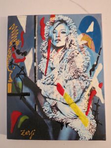 Image of ''Kate Moss'' mixed media on canvas by Richard zarzi
