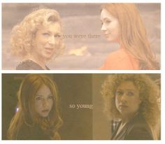 Doctor Who ? River Song and Amy Pond All Doctor Who, First Doctor, Eleventh Doctor, Serie Doctor, Alex Kingston, Rory Williams, Hello Sweetie, Geronimo, Dr Who