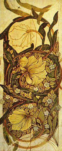 William Morris, Pimpernel wallpaper design, 1876