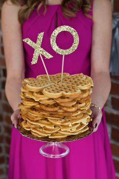 Waffle Cake & Valentine's Day Bestie Brunch // event design+styling by For Like, Ever! // photo by Dylan Murphy Creations