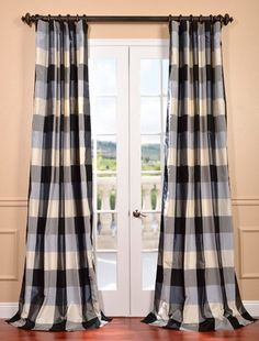 Home, Furniture & Diy Tiebacks Pair Brand New Bright Oxford Check Lined Curtains
