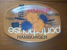 70's Vintage Retro Bessemer Nylex Steak decorated Melamine Serving Plate
