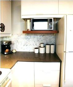 Lovely Microwave Wall Mount Shelf Mounted Hanging For Interiors As Seen On