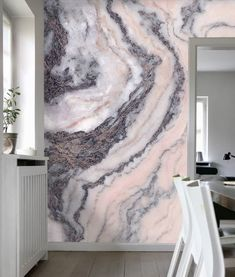 Wallpaper Is the Latest Trend You'll Want Your Home to Rock This chic pink grey marble wallpaper will have you dreaming of far off places right at home.This chic pink grey marble wallpaper will have you dreaming of far off places right at home. Grey Marble Wallpaper, Look Wallpaper, Wallpaper Wallpapers, Wallpaper Ideas, Pink And Grey Wallpaper, Marble Wallpapers, Wallpaper Samsung, Vintage Wallpapers, Wall Art Designs