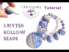 Tutorial how to make knitting hollow beads from polymer clay. - YouTube