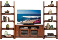picture of Crown Valley Brown 3 Pc Wall Unit from  Furniture