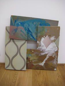 Kusnir, Carlos Paysage, 2010 acrylique sur bois, 4 éléments collés 50 x 48 cm