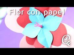 Las flores de papel más sencillas del mundo | Manualidades