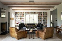 I want to sit in those manly chairs wonderful bachelor pad Michael C Hall's LA home.. – Greige Design
