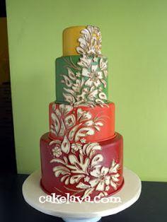 cakelava: Modern Fall Wedding Cake