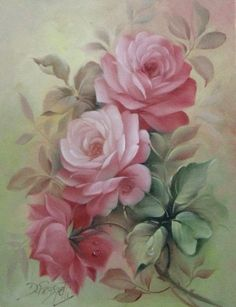 Romantic Rose Paintings~ Shows and Events : Paintings done while traveling the past year. Arte Floral, Motif Floral, Floral Prints, Vintage Rosen, Decoupage Vintage, Romantic Roses, Rose Art, China Painting, Beautiful Paintings