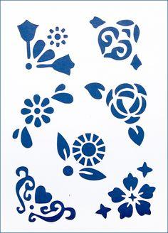 Трафарет 22х31см ST-010 Цветы и сердца