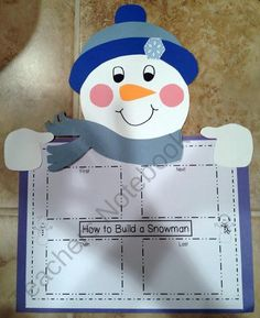 Snowman Writing Craftivity product from Primary-Reading-Party on TeachersNotebook.com