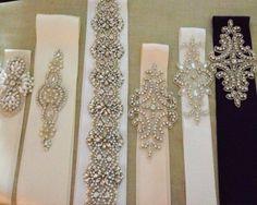 cinturones de novia! excelente accesorio