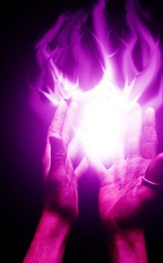 violet energy-The difference between violet and purple is that violet appears in the visible light spectrum, or rainbow, whereas purple is simply a mix of red and blue. Violet has the highest vibration in the visible spectrum.