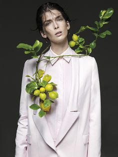 the Room  Issue: Spring/Summer 2012 Title: Le Cose Di Ogni Giorno Raccontano Segreti A Chi Le Sa Guardare Models: Querelle Jansen, Anais Pouliot, Liu Wen, Katlin Aas, Madisyn Ritland, Kristina Salinovic, Marique Schimmel, Colinne Michaelis, Josefien Rodermans, and Emeline Ghesquière Photography: Emilio Tini Styling: Emil Rebek