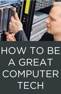 A computer technician is an individual who identifies, troubleshoots and resolves computer problems. Learn about the job requirements and expectations for a computer technician, including salary, education and experience. Technology Careers, Technology Gifts, Technology Hacks, Technology World, Futuristic Technology, Business Technology, Medical Technology, Computer Technology, Information Technology