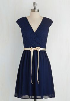 Champagne at Midnight Dress in Navy | Mod Retro Vintage Dresses | ModCloth.com