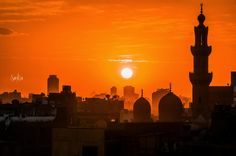 Cairo Sunset - Cairo Sunset From Al-Azhar Park Egypt  SaMwA Photography