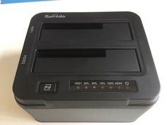 Spinidoオフラインハードドライブ複写機/クローナー機能デュアルベイ USB 3.0の3.5/2.5インチ対応 SSDと2*6TBのために最適化されたUSAP SATA 3 サポート工具不要の外付け アルミニウム ハードドライブドックステーション
