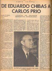 Página de la revista BOHEMIA donde aparece Eduardo Chibás