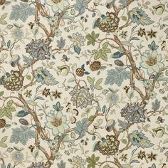 Remarkable seamist jacobeans drapery and upholstery fabric by Laura Ashley. Item LA1324.323.0. Huge savings on Laura Ashley products. Free shipping! Featuring Laura Ashley Fabric. Search thousands of luxury fabrics. Only first quality. Sold by the yard. Width 54 inches.