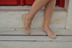 Desert sand Nude Suede Leather Ballet Flats ballerinas