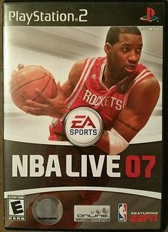 NBA Live 07 Sony PlayStation 2 ps2 basketball game e everyone ESPN 1-2 players
