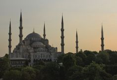 Blue mosque, built for the sultan ahmet mosque istanbul most beautiful. Istanbul is the most beautiful hill seems at every point of the city. Blue mosque was built by master architect Sedefkar Mehmet 7 years. There are 6 minarets and domes. is decorated with beautiful blue color in ceramics.