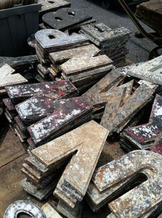 old metal letters