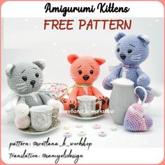 The most current amigurumi crochet toy models, we continue to meet you. In this article, a great amigurumi doll free crochet pattern is waiting for you. Crochet Patterns Amigurumi, Amigurumi Doll, Crochet Dolls, Getting A Kitten, Amigurumi For Beginners, Little Kittens, Baby Kind, Crochet Animals, Free Crochet