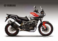 Motosketches: YAMAHA FZ-09 / MT-09 Triple WORLDCROSSER Concept by  Oberdan Bezzi