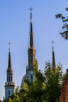 Towers of the Cathedral and Monastery of the Mariavites, Plock, Poland
