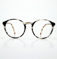 7b28de6ee16 80s Glasses 1980s Round Circle Horn Rim Eyeglasses by thenovelty Vintage  Sunglasses
