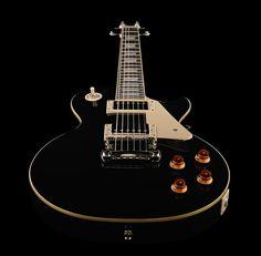 Epiphone Les Paul Standard Ebony Electric Guitar  Body: Mahogany, Neck: Mahogany, Fretboard: Rosewood, Nut width: 42.67mm, Scale length: 628 mm, Pickups: 2 Alnico Classic humbuckers, Trapezoid inlays, Grover machine heads, Hardware: Chrome, Colour: Ebony