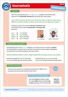 Voorzetsels [3] Dutch Language, Home Activities, Prepositions, Home Schooling, Einstein, Classroom, Positivity, Teaching, Writing