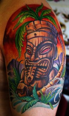 Tiki tattoo. By Cory Norris.                                                                                                                                                      Mehr