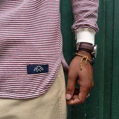 Marinière micro-rayée, tricotée en métier tubulaire dans les Pyrénées. Coupe over-size se rapprochant de l'univers sport américain.  #BleudePaname #madeinFrance #FW16 #mariniere #BDP68
