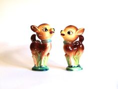 Vintage Deer Fawn Bambi Salt & Pepper Shakers - Mid Century Kitsch Figurines Ornaments - Made in  Japan - Kitschy! by FunkyKoala on Etsy
